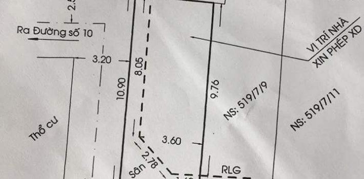 Bán đất HXH 519 Cây Trâm Phường 8 giá 2 tỷ (đã bán)