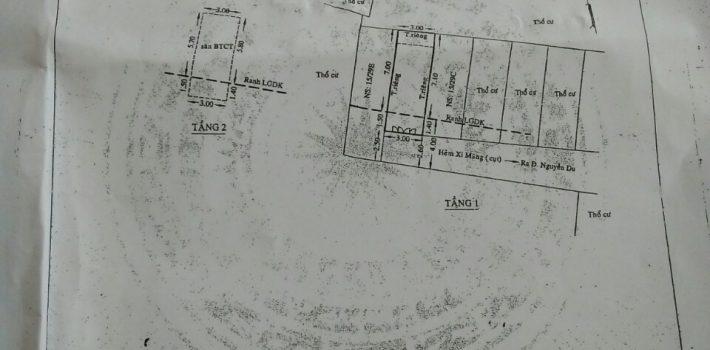 Nhà 1T1L hẻm 15 Nguyễn Du phường 7 giá 1.98 tỷ (đã bán)