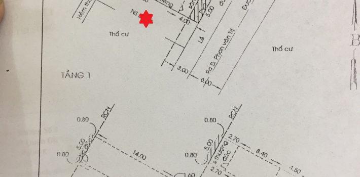 Nhà 1T2L HXH đường số 1 phường 7 giá 6.3 tỷ