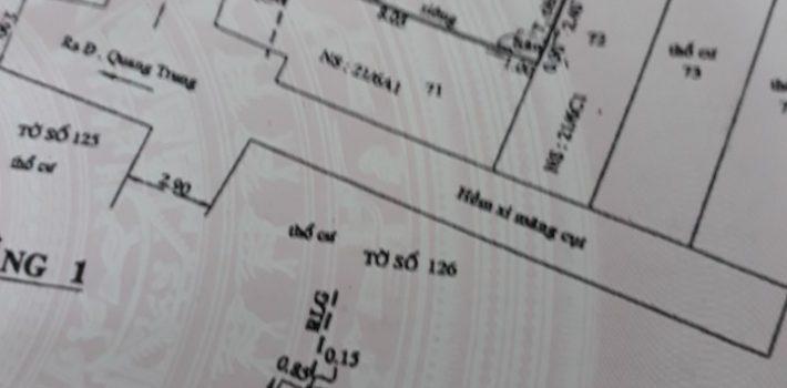 Nhà 1T2L hẻm 618 Quang Trung Phường 11 Giá 2,65 tỷ (đã bán)