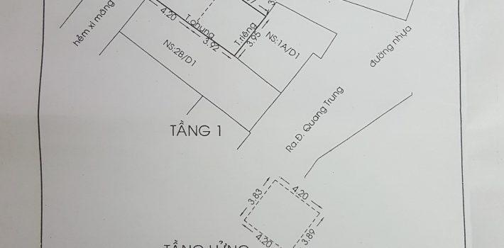 Nhà 2,5 tấm hẻm 312 Quang Trung F10 giá 2,1 tỷ (đã bán)