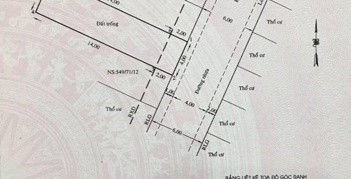 Đất 4×16 HXH 549 Lê Văn Thọ P14 Giá 3,25 tỷ (đã bán)