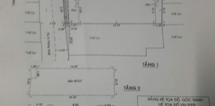 Nhà đẹp 1T2LHXH 4.5m DT 5×18 nở hậu 5,15 Thống Nhất P11 giá 5,5 tỷ