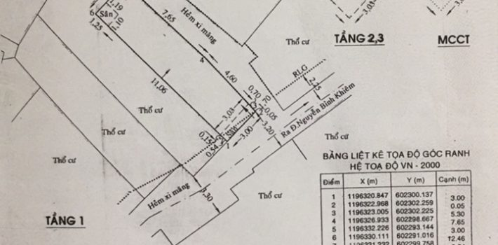 Bán nhà 1T2L Hẻm 39 Nguyễn Bỉnh Khiêm P1 Giá 4 tỷ (đã bán)