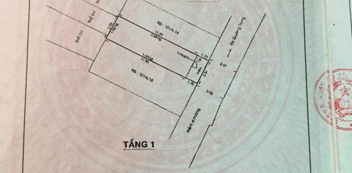 Nhà 1T1L sân thượng 3.5×14 HXH 4m đường 21 F8 giá 3.45 tỷ