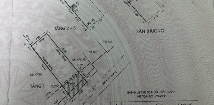Nhà 1T2L sân thượng 4×12 HXH Huỳnh Khương An giá 4.1 tỷ