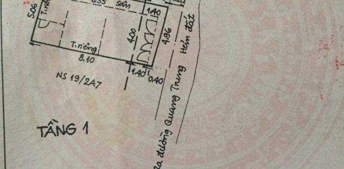 Nhà cấp 4 hẻm 576 Quang Trung F10 giá 2.6 tỷ