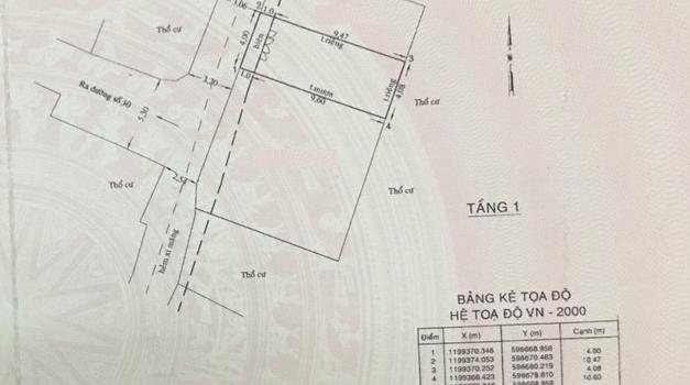 Nhà hẻm 3.5m Cây Trâm 4×11 nở hậu giá 2.85 tỷ