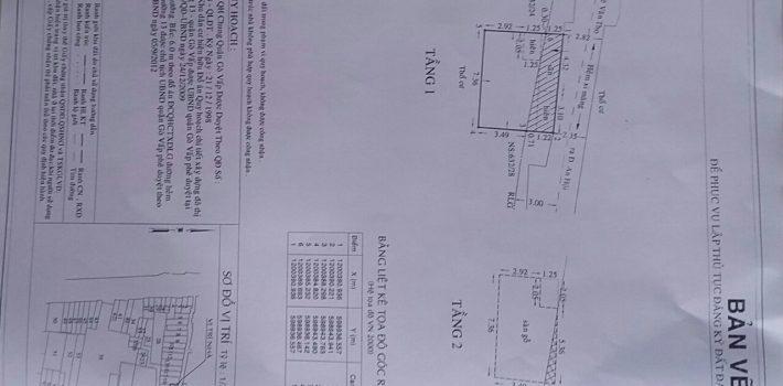 Nhà 1T1L HXH 1 trục 632 Lê Đức Thọ F13 GV giá 2.55 tỷ