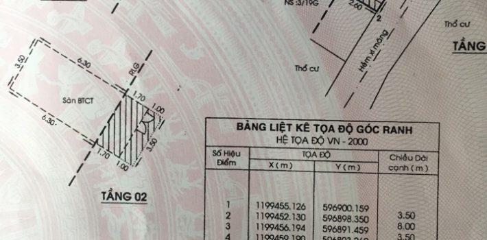 Nhà đúc 2 tấm hẻm 945 Quang Trung F14 giá 2.75 tỷ