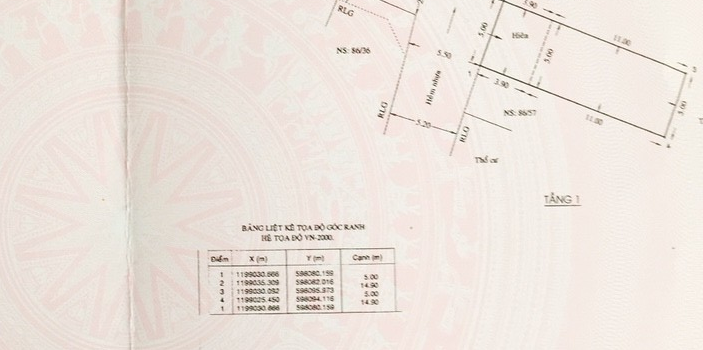 Nhà cấp 4 DT 5×15 HXH 5.5m đường số 14 phường 8 giá 4 tỷ