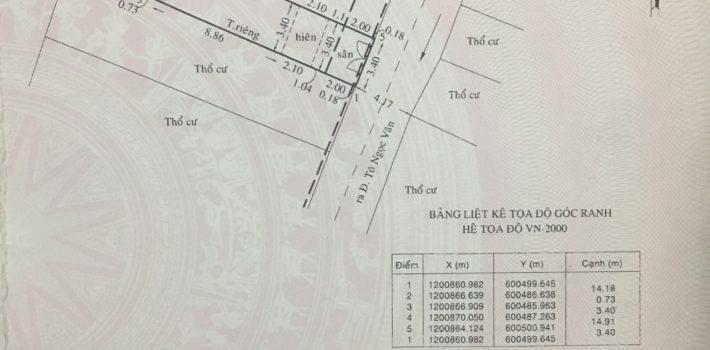 Nhà cấp 4 hẻm 5m Tô Ngọc Vân P15 Gò Vấp: