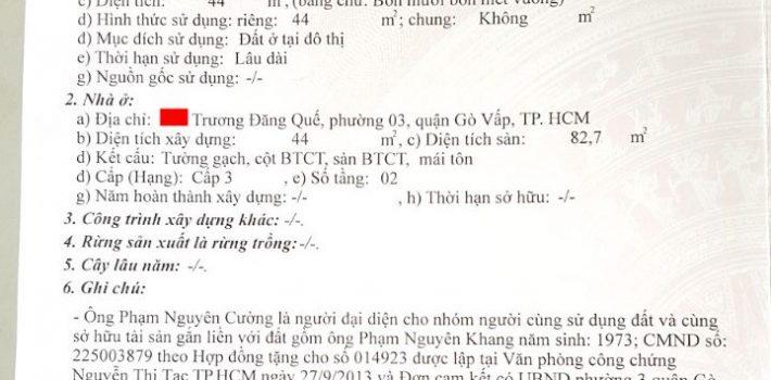 Bán nhà Mặt Tiền Trương Đăng Quế P1 GV chỉ 5.5 Tỷ