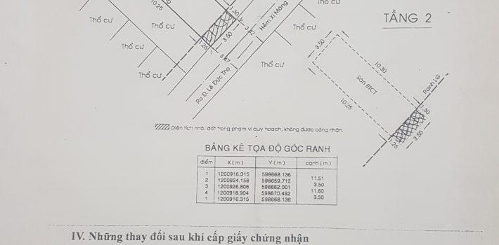 Nhà 1T1L hẻm 1416 Lê Đức Thọ gần cầu Cụt F13 giá 2.95 tỷ