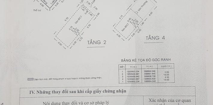 Nhà 1T3L hẻm 1416 Lê Đức Thọ gần cầu Cụt F13 giá 3.8 tỷ