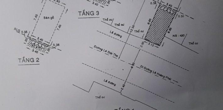 Nhà Mặt tiền Lê Đức Thọ P17 giá 5,4 tỷ