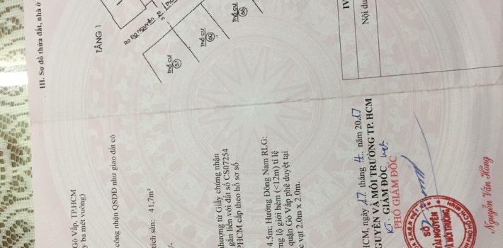 Nhà 1T1L hẻm 368 Nguyễn Thái Sơn F5 Gò Vấp giá 2.6 tỷ