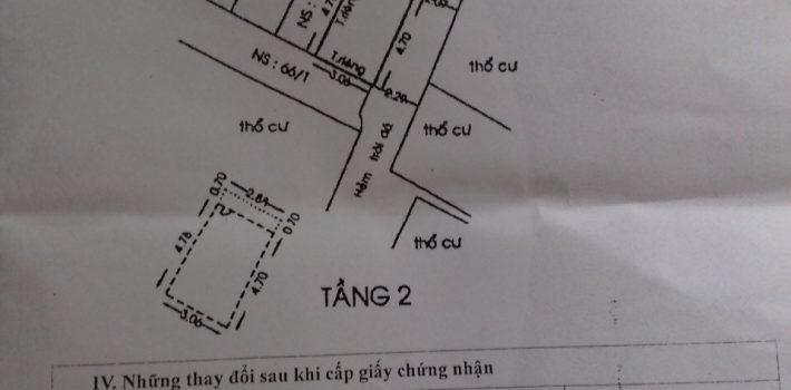Nhà 1T1L Hẻm 525 Quang Trung F10 GV. Giá 1.5 tỷ