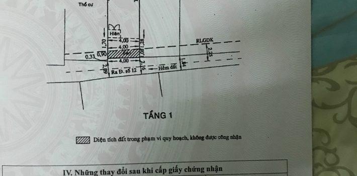 Nhà cấp 4 Hẻm 566 Nguyễn Thái Sơn F5 GV. Giá 3.3 tỷ