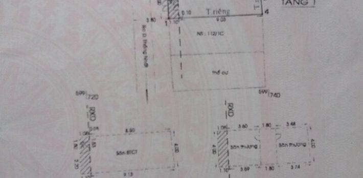 Nhà 1T3L Hxh 373 Thống Nhất F11 giá 3,9 tỷ