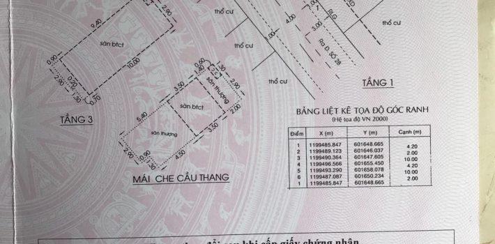Nhà 1T3L HXH 173 đường số 28 F6 GV  Giá 5,15 tỷ
