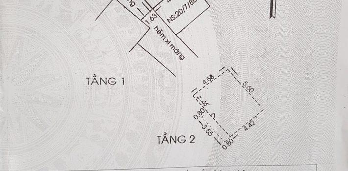 Bán nhà 1 lầu hẻm xe hơi 115 Nguyên Hồng 2.7 tỷ
