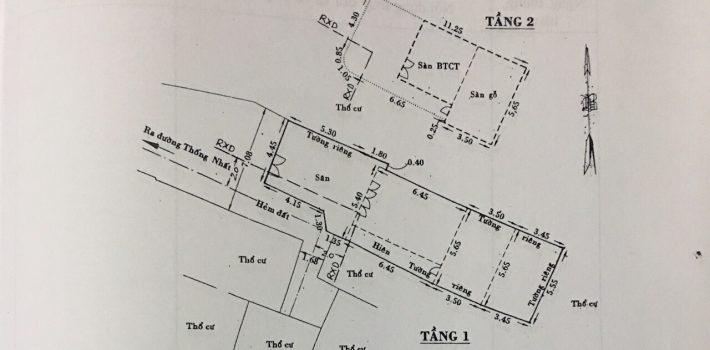Nhà 1T1L sát MT 420 Thống Nhất F16 giá 8 tỷ