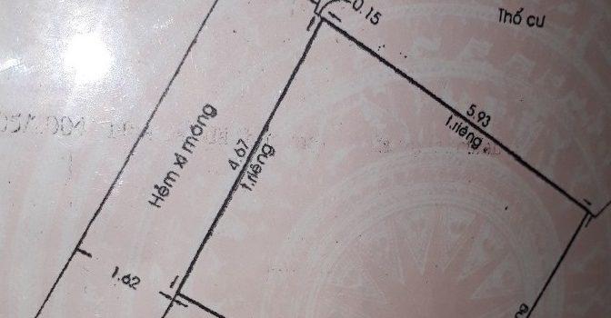 Nhà 1T1L đúc thật hẻm 637 Quang Trung F10 giá 1,95 tỷ