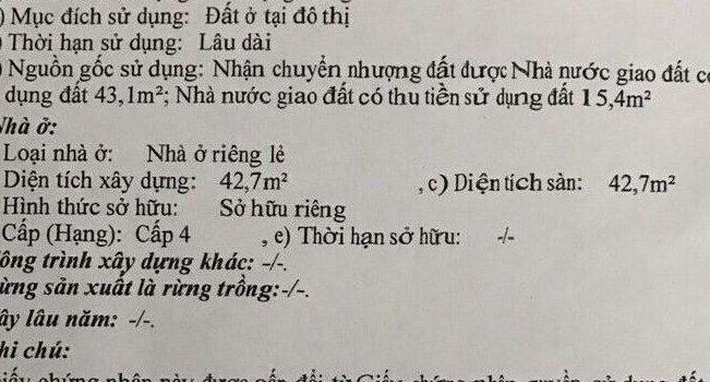 Nhà cấp 4 HXH Phạm Văn Chiêu P16 Gò Vấp giá kinh doanh
