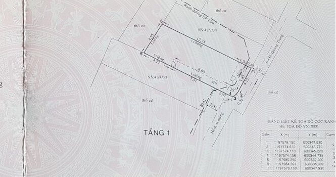Nhà hẻm 275 Quang Trung F10  dt:4.5×15 giá 4,8 tỷ