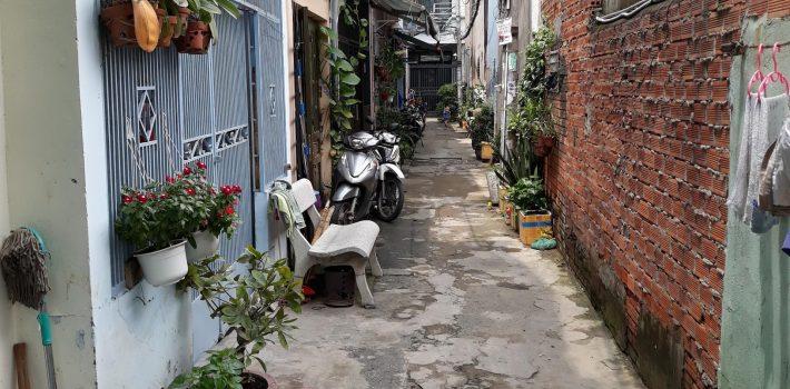 Nhà 1 trệt 2 lầu hẻm 153 Lê Văn Thọ P8 giá 2.9 tỷ