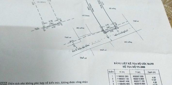Bán 1T1L  HXH 4X18 trần bá giao phường 5 gò vấp